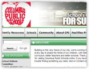 [Columbus Public Schools web site screenshot]