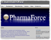 [PharmaForce web site screenshot]